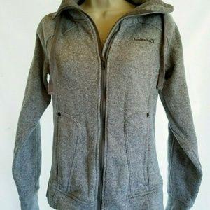 Avalanche Fleece Jacket Womens Size S Gray Zip